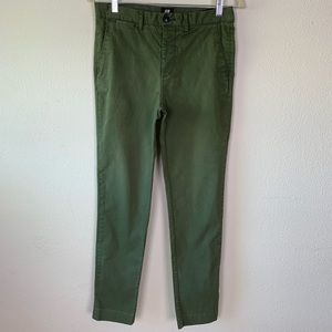 H&M slim fit size 30R green jeans